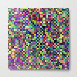 Pixel Print Metal Print