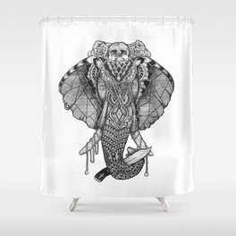 The Freak Show Shower Curtain