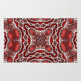 abstract jewel red Rug