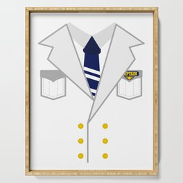 Boat Pontoon Sailing Captain Costume design Gift Serving Tray