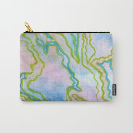 Abstract stone watercolor pattern Carry-All Pouch