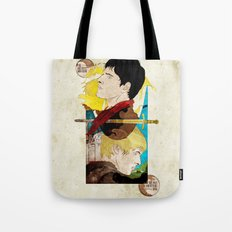 The King and His Sorceror Tote Bag