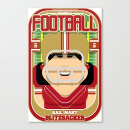American Football Red and Gold -  Hail-Mary Blitzsacker - Amy version Canvas Print