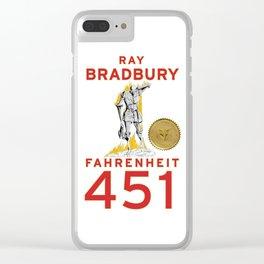 Fahrenheit 451 Clear iPhone Case