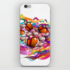 Colorful Hearts iPhone & iPod Skin