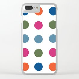 Colorful Regularity Clear iPhone Case