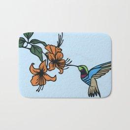 Hummingbird Garden Paper-cut  Bath Mat
