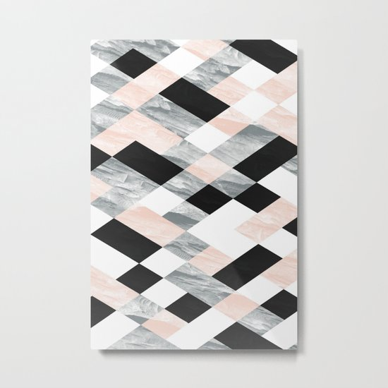 Pastel Scheme Geometry Metal Print