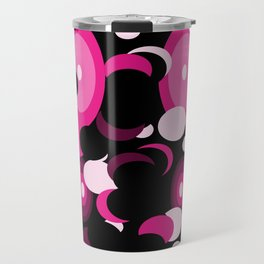 black space pink planets and moons Travel Mug