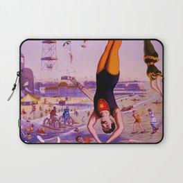 Vintage Coney Island Water Carnival Laptop Sleeve