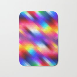 Abstract Colorful Funky Squares Pattern Bath Mat