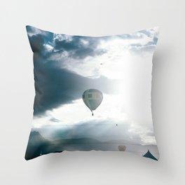 Albuquerque Balloon Fiesta Sunrise Throw Pillow