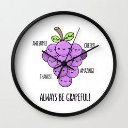 Grapeful Wall Clock