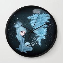 Intercosmic Christmas in Blue Wall Clock