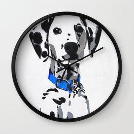 Winnie in blue Wall Clock