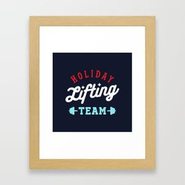 Holiday Lifting Team (Christmas Gym, Workout and Fitness) Framed Art Print