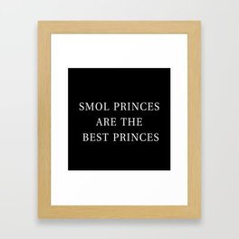 Smol Bookish YA Princes Black Framed Art Print