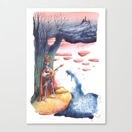 The fish witch troubadour Canvas Print