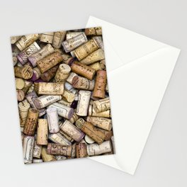Fine Wine Corks Square Stationery Cards