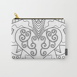Crowned Heart Carry-All Pouch