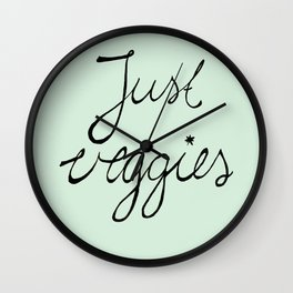 just veggies  Wall Clock
