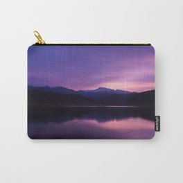 mountains, lake, night, reflection Carry-All Pouch