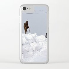 Coastal Snowbank Clear iPhone Case
