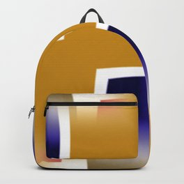 Yellow and Blue Abstract Art Backpack