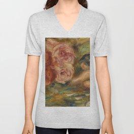 """Auguste Renoir """"Roses et Étude de Gabrielle"""" Unisex V-Neck"""