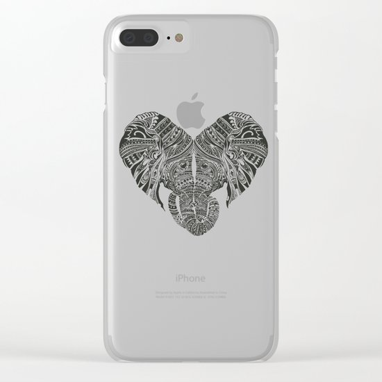 Huge Heart Clear iPhone Case