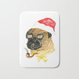 Christmas Dog Bath Mat