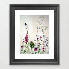 Summer Bed & Blues Framed Art Print