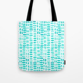 Abstract rectangles - turquoise Tote Bag