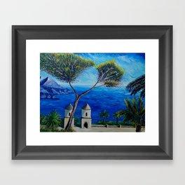 All Blue On Amalfi Coast Italy Framed Art Print
