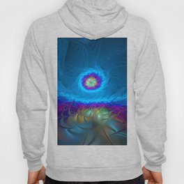 Fantasy, Abstract Fractals Art With Blue Hoody