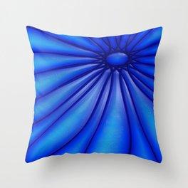Flower Blues Throw Pillow