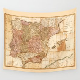Kingdoms of Spain and Portugal Map by Robert Sayer (1772) Wall Tapestry