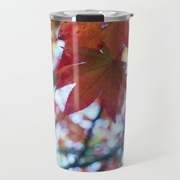 red maple leaves and bokeh Travel Mug