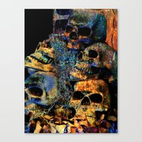 skulls Canvas Prints featuring Skulls By Annie Zeno by AZ Creative Visions