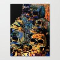 skulls Canvas Prints featuring Skulls By Annie Zeno by Annie Zeno