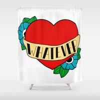 whatever Shower Curtains featuring Whatever by Madz Drawings
