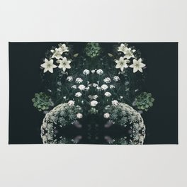 Deep Green Baby's Breath Forest Rug