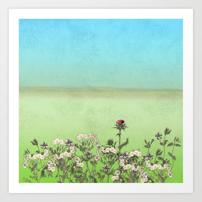 In An English Country Garden Art Print