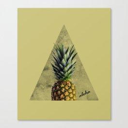 Aloha Sweet Pineapple Geometry Canvas Print