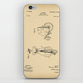 1898 Patent Bicycle skirt iPhone Skin