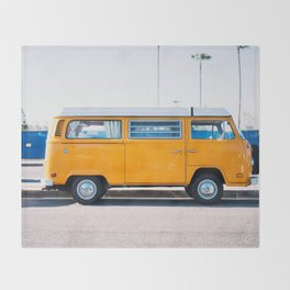 Combi yellow Throw Blanket