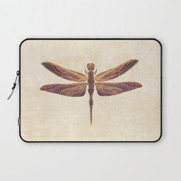 Art Nouveau Dragonfly In Purple Laptop Sleeve