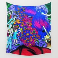 techno Wall Tapestries featuring Techno Giants by Jaz The Spaz