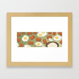 Spam & Eggs Framed Art Print