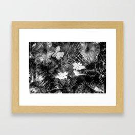 a visage in the garden Framed Art Print